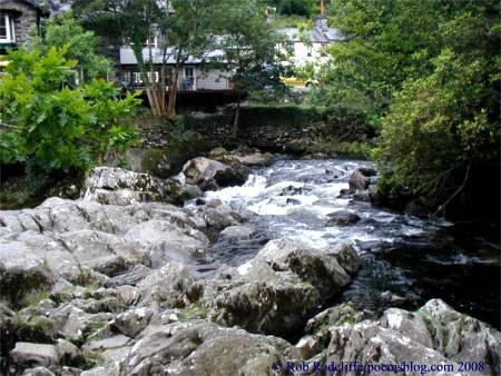 river LLugy in betws-y-coed, pont-y-pair wales